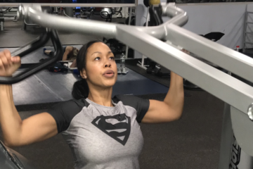 Shamis Pitts in the gym-Shamis2020.com Wellbeing Campaign